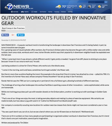 ABC News 7 Outdoor workouts fueled by innovative gear