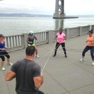 BootCampsSF class working out together in San Francisco